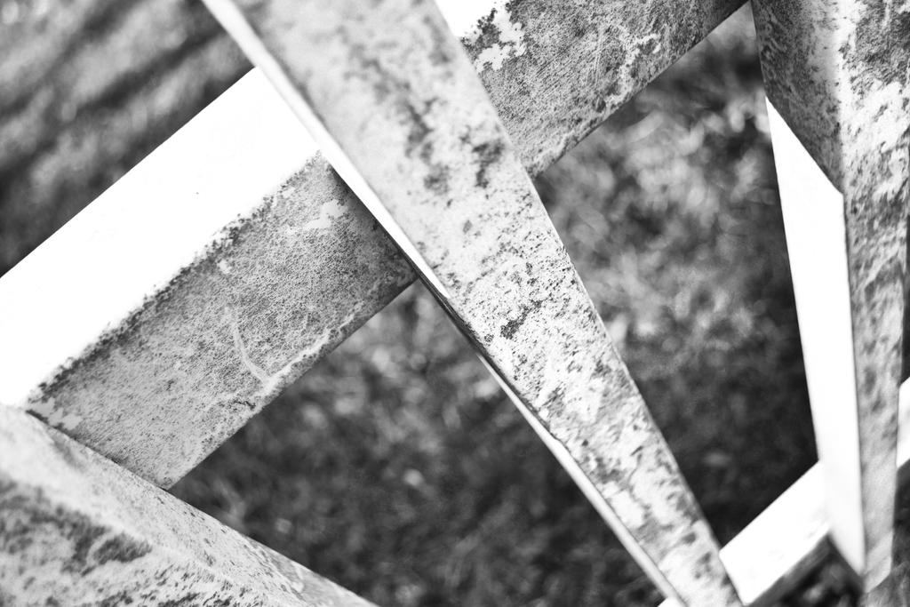 Black And White Fence by janinelson