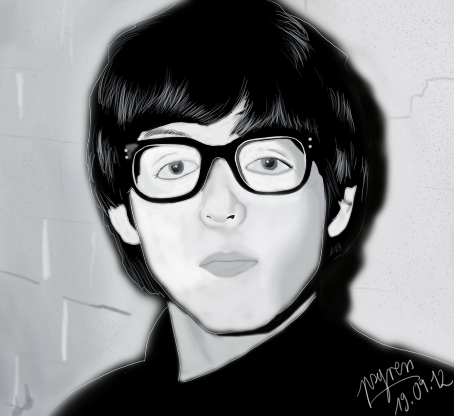 Paul McCartney With His Glasses By Psyress