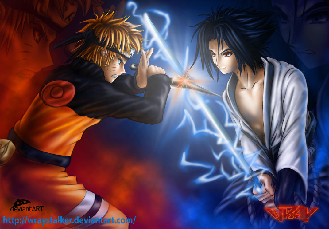 Naruto VS Sasuke The Collision by wraystalker