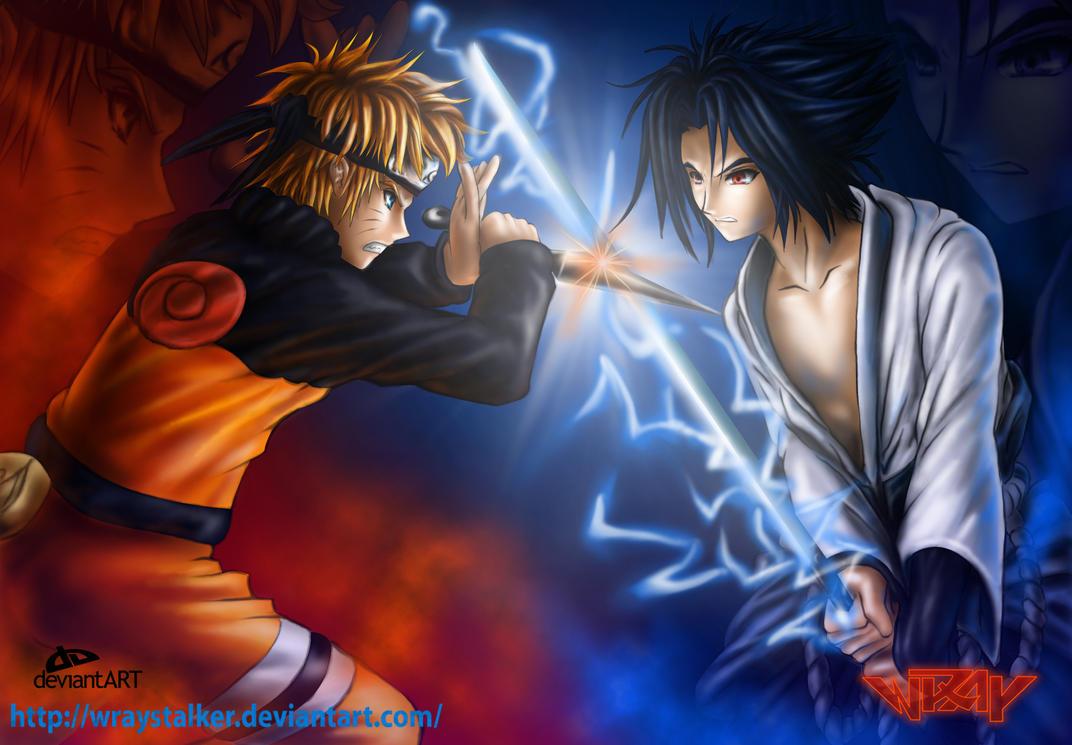 Popular Wallpaper Naruto Good - naruto_vs_sasuke_the_collision_by_wraystalker  Snapshot_303929.jpg