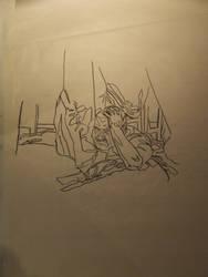 life drawing - shape to shape
