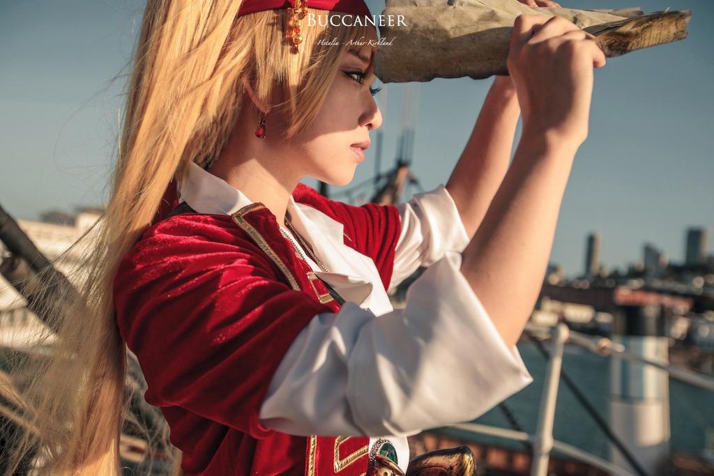 Arthur Kirkland Pirate girl ver by BunnyTuan