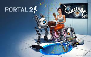 Portal 2 Wallpaper - Last Bag of Confetti by sohlol