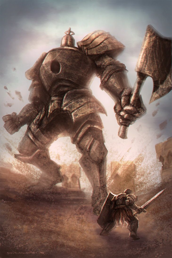 Iron Golem Vs Tarkus by sohlol