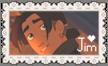 Jim Hawkins Love Stamp by StampMakerLKJ
