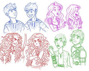 Big Four Doodles by TriGod-AlliKat