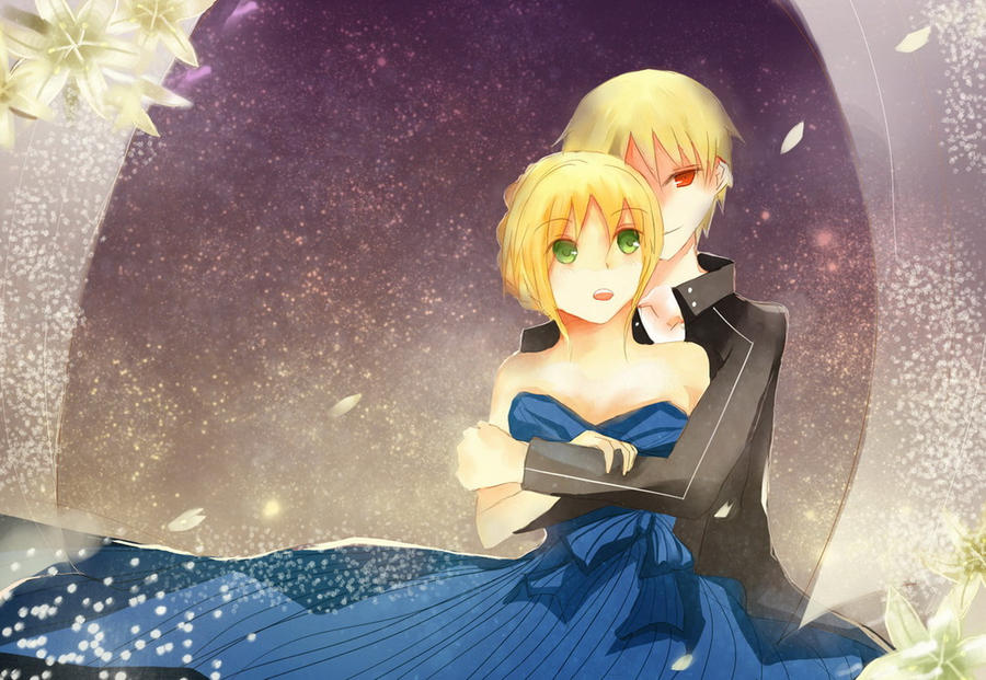 Secret Fate Series-Gillgamesh and Saber by ciceon