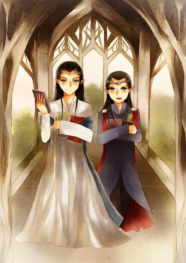 Elrond*Lindir by ciceon
