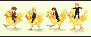 Chocobo riding by ciceon