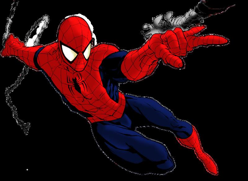 Spiderman colorated render by patatabollente on deviantart for Immagini uomo ragno da colorare