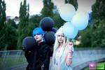 Goth vs Lolita by Buntes-Geknipse
