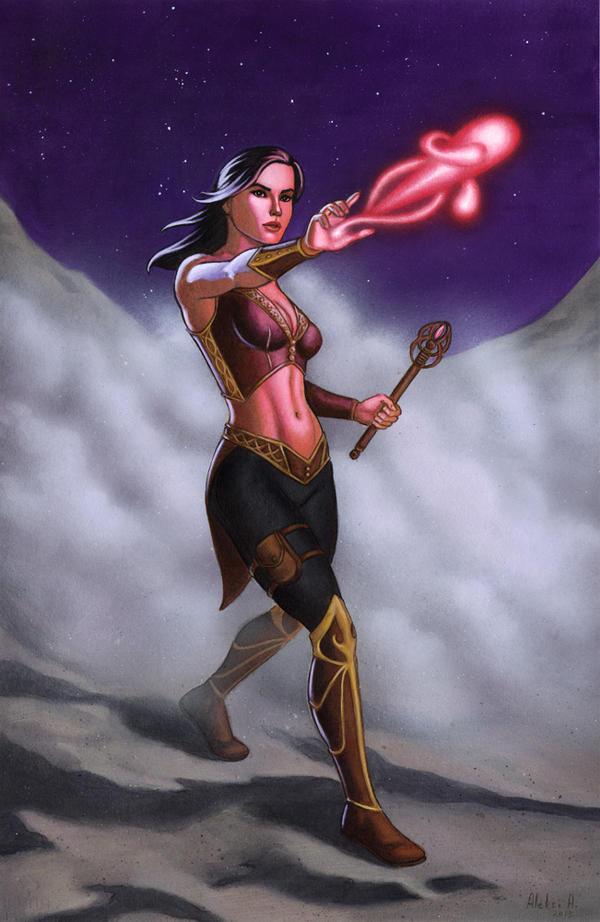 Sorceress by AleksiAh