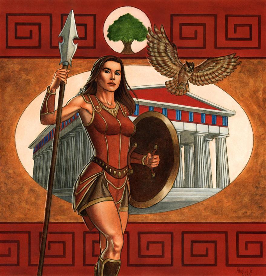 Athena's Wisdom by AleksiAh