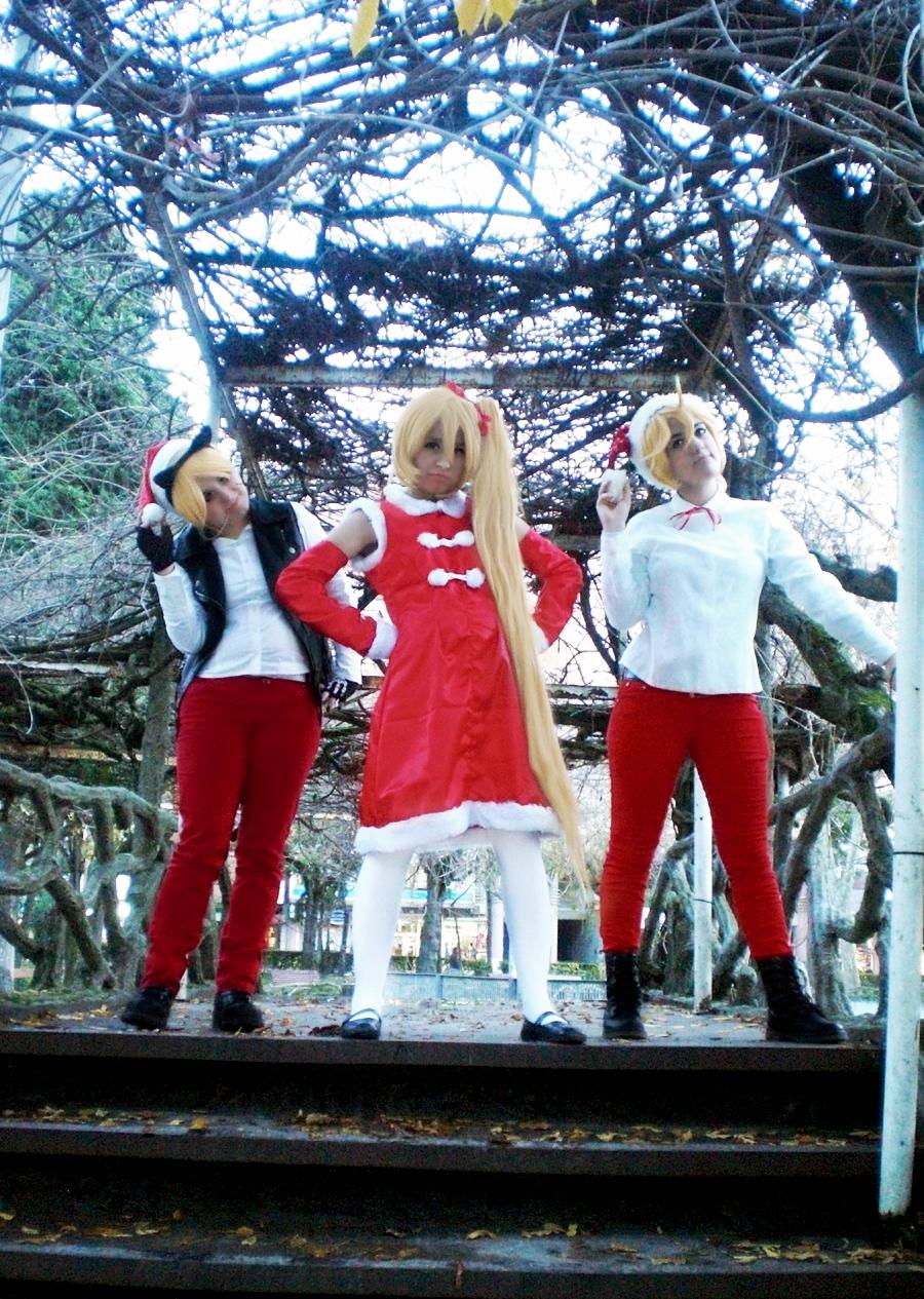 96Neko  Neru and Len - A Vocaloid X-mas by IneskeiVocaloid Neru And Len