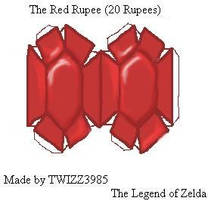 Red Rupee Papercraft by Twizz3985