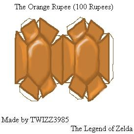 Orange Rupee Papercraft by Twizz3985