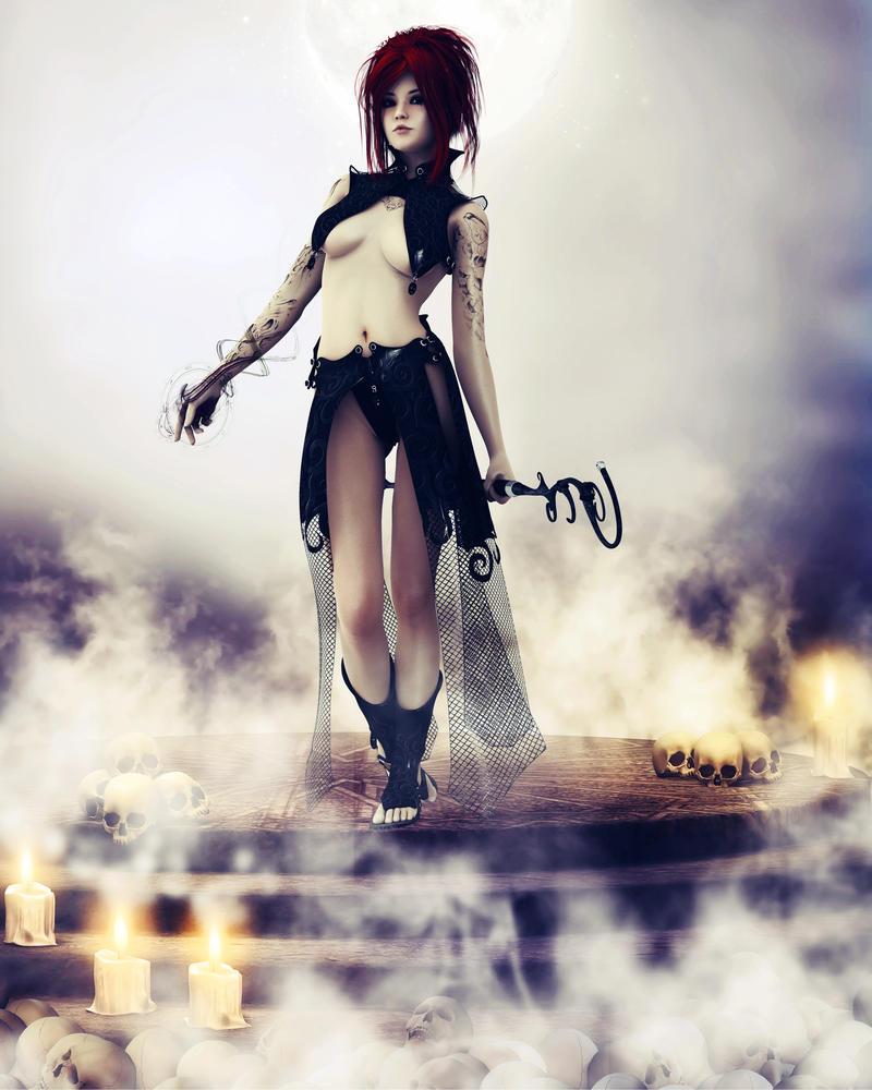 Sakura Sakurazawa : Dark Magician by LadyXiahou
