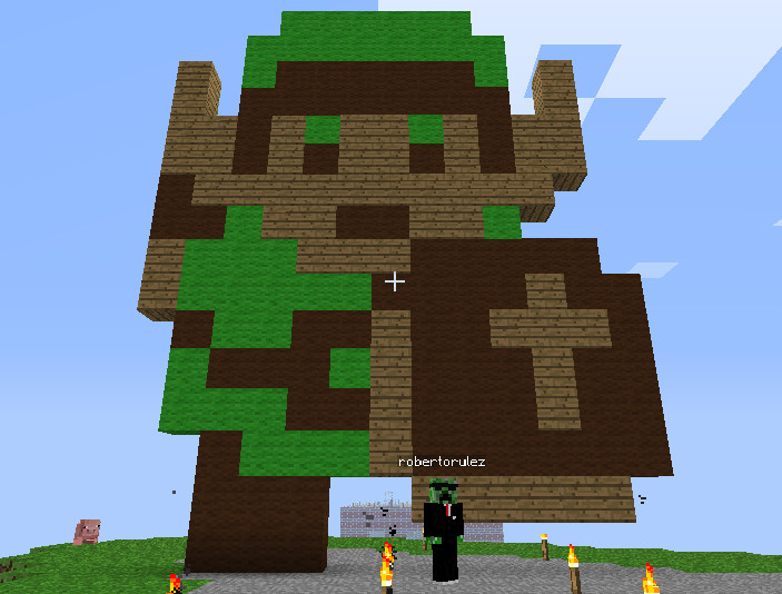 Minecraft 8-bit Link Statue by myvideogameworld
