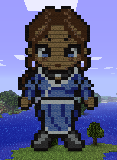 Minecraft Katara Statue by myvideogameworld