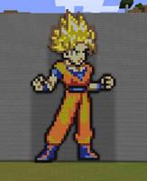 Minecraft Goku Statue by myvideogameworld