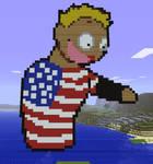 Minecraft America SATW Statue by myvideogameworld