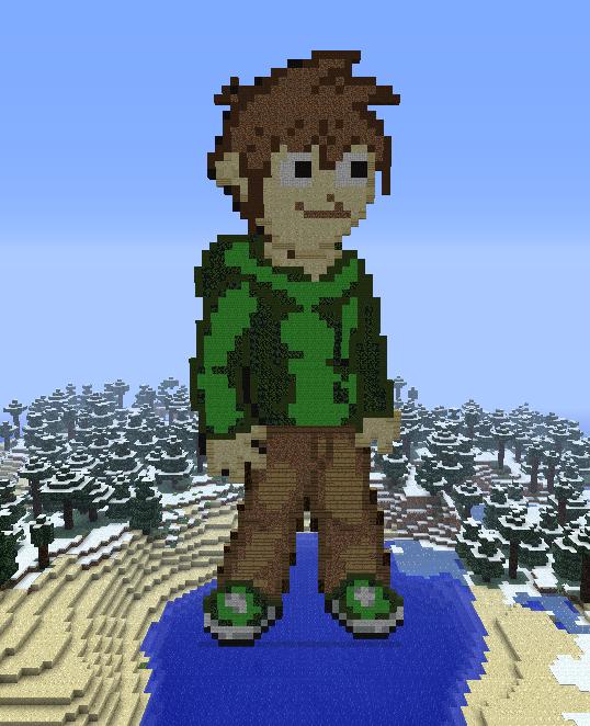 Minecraft Edd Statue by myvideogameworld on DeviantArt