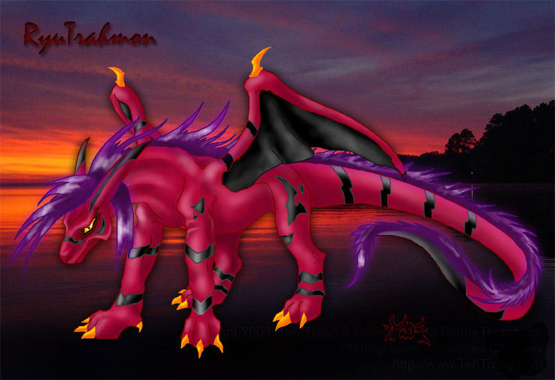 The fire Digimon - RyuTrahmon by DamienMuerte