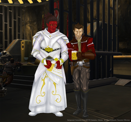 Alliance Commander Belioth and Theron Shan