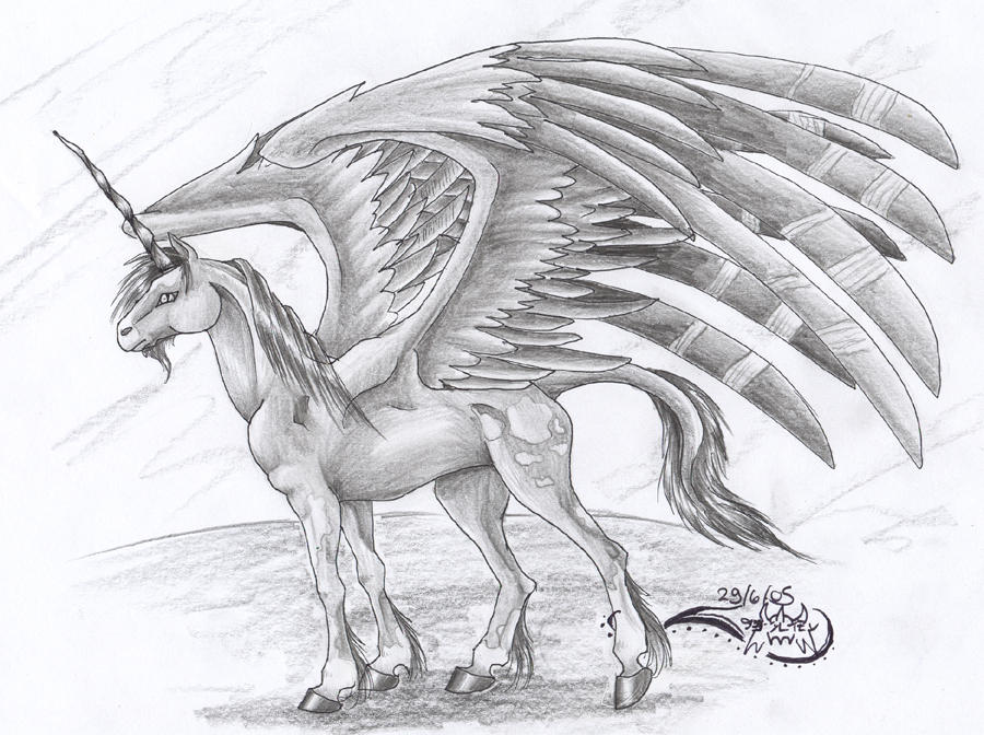 The Winged Unicorn by DamienMuerte on DeviantArt