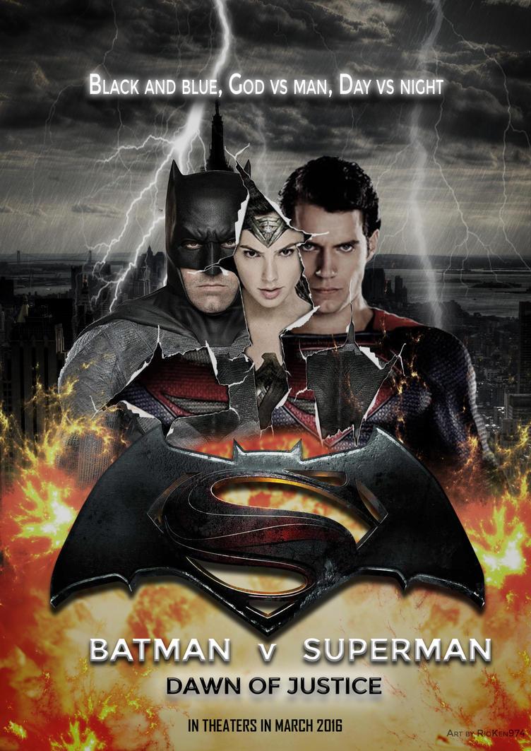 Batman V Superman - Poster by rioken974