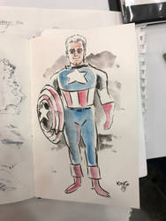 jack kirby as captain america