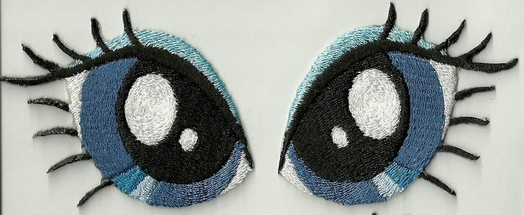 Rarity Eyes Embroidered Patches by Spaceguy5