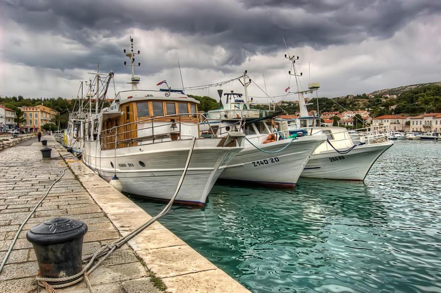 Boats on Rab island