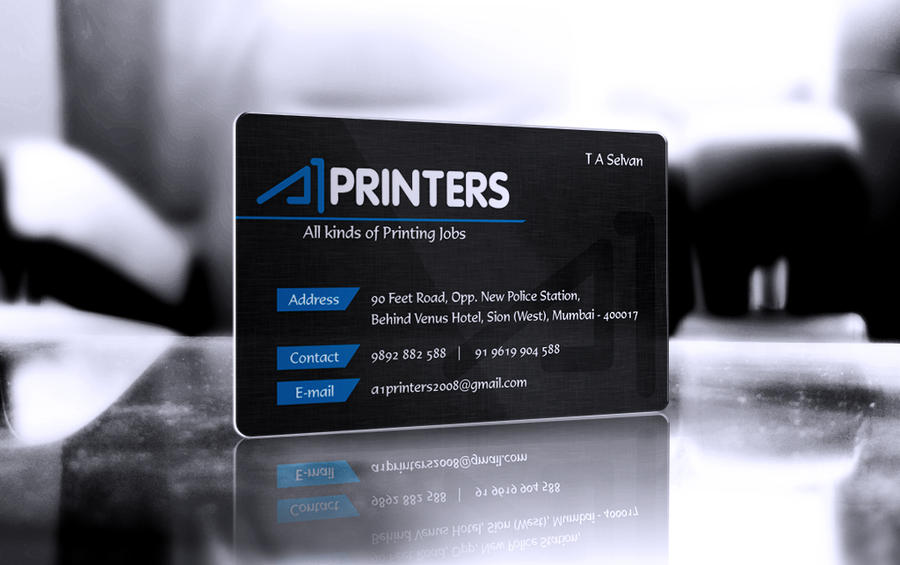 A1 printers business card design by mbenzrajan on deviantart a1 printers business card design by mbenzrajan colourmoves