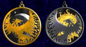 Phoenix Amulet Set