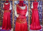 Princess Red Wedding LARP fantasy dress by OokamiWorkroom