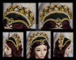 Women's Attifet Elizabethan Shaped Headdress Renai by OokamiWorkroom