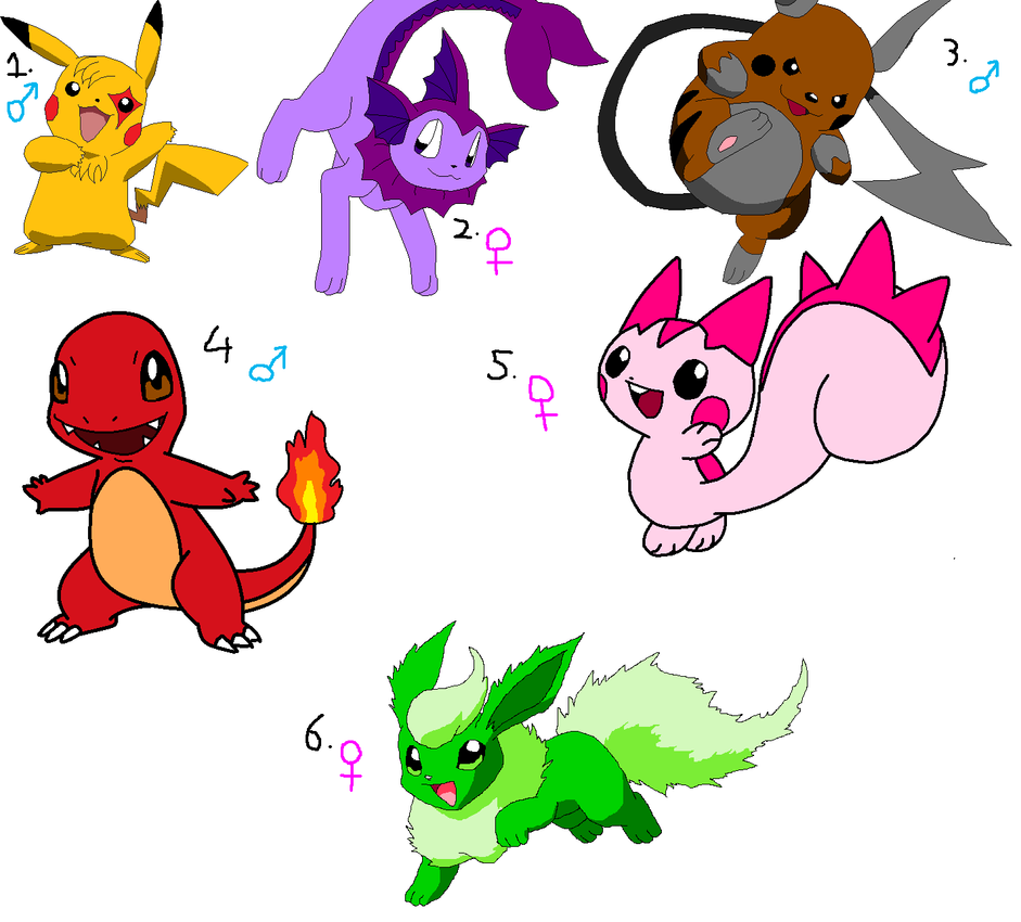 Pokemon Adoptables 8D OPEN by LillyTheSeedrian