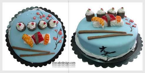 Sushi cake by akr1