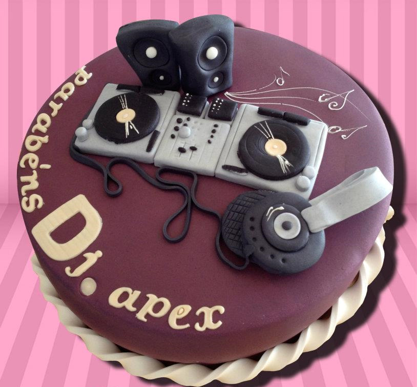 Images Of Dj Birthday Cake With Headphones