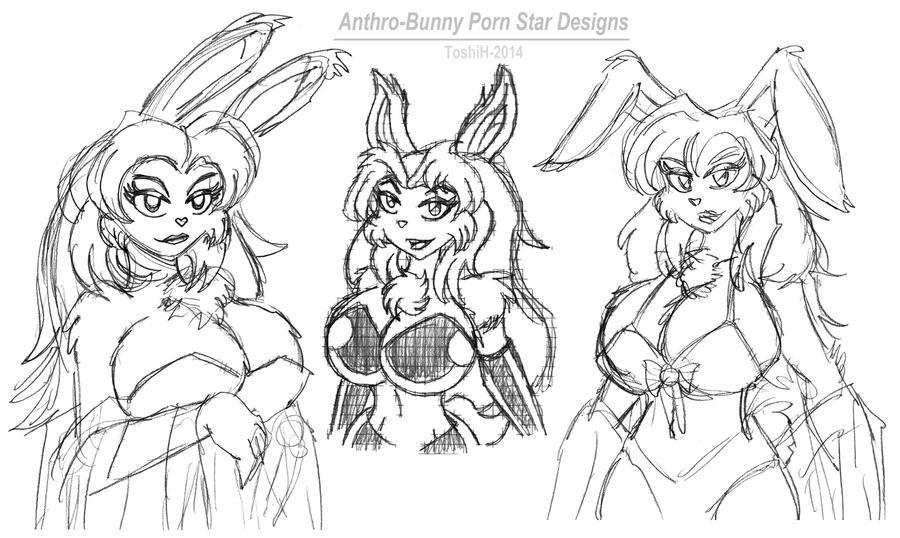 Anthropomorphic Porn - Anthro-Bunny Porn Star Sketches by VioletVixenPro ...