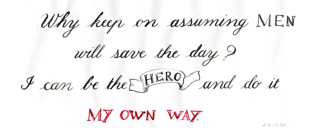 Hero'n stuff by Alpacalligraphy