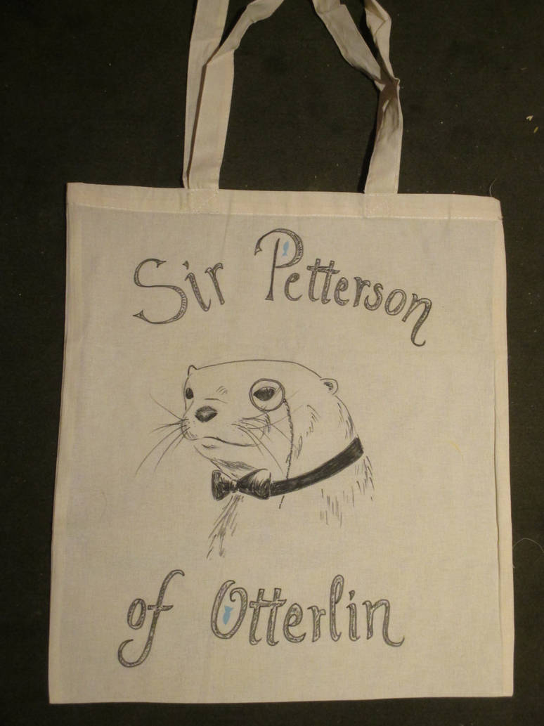 Grocery bag with an otter by Alpacalligraphy
