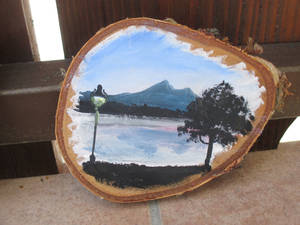 Lake wood painting
