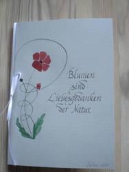 Blumen sind Liebesgedanken - card