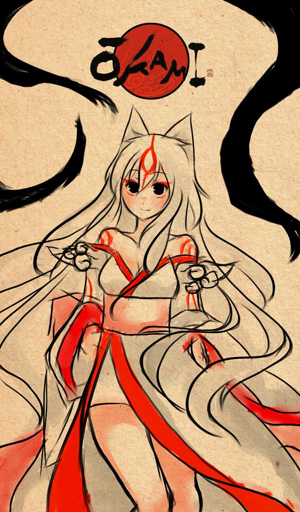 Okami Amaterasu by deliciosaBerry on DeviantArt