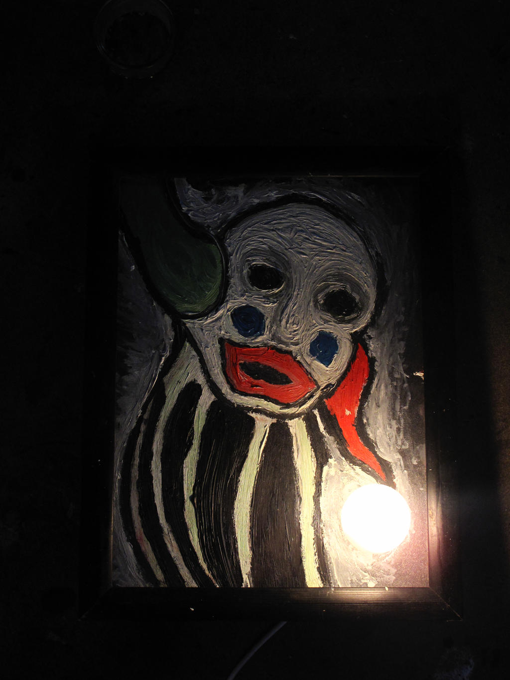 Somber Clown With Bulb by MaximumDefiance