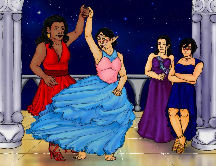 Dancing in Hightown by DragonLover2000