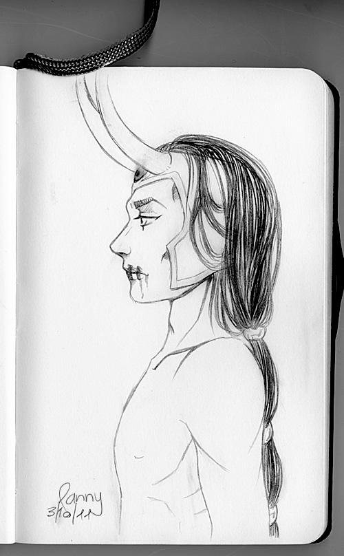 Loki doodle 2 by IslaDelCoco