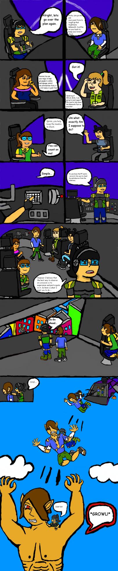 Protector Force Comic Pg 3 by GigglingMeneHune